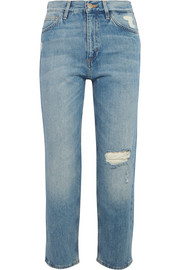 M.i.h Jeans Jeanne cropped distressed straight-leg jeans