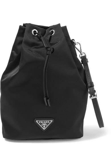 b43c6774df88 Prada   Vela leather-trimmed shell cosmetics case   NET-A-PORTER.COM
