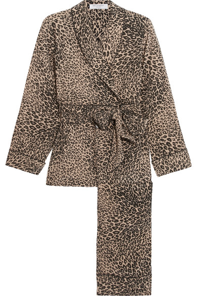 Equipment - Odette Leopard-print Washed-silk Pajama Set - Leopard print