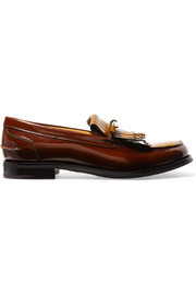 Church's Rachel studded polished leather loafers