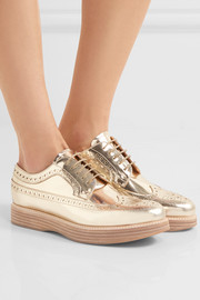 Opal mirrored-leather brogues