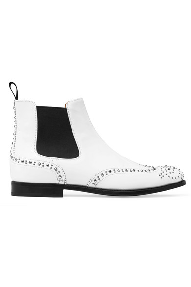 Church's - Ketsby Studded Leather Chelsea Boots - White