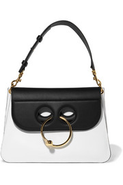 Pierce medium two-tone leather shoulder bag