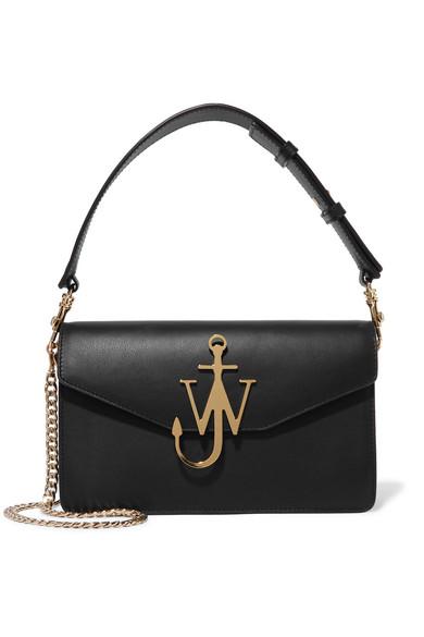 J.W.Anderson - Logo Leather Shoulder Bag - Black