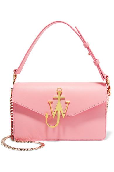 J.W.Anderson - Logo Leather Shoulder Bag - Baby pink