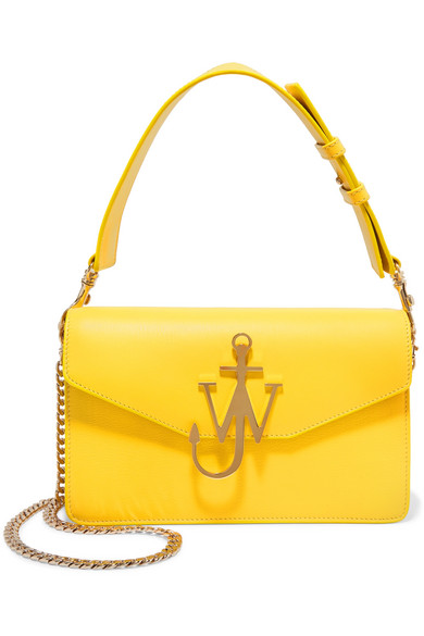 J.W.Anderson - Logo Leather Shoulder Bag - Yellow
