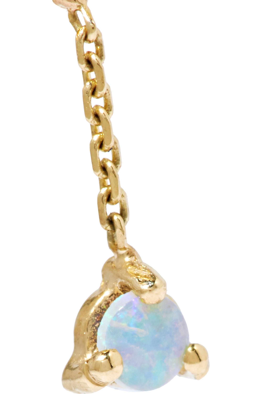 Wwake Two Step Ohrringe aus 14 Karat Gold mit Opalen