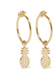 Pineapple gold-plated hoop earrings