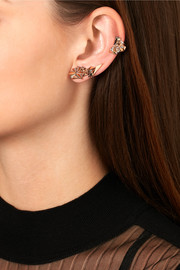 Diane Kordas Eclipse 18-karat rose gold diamond ear cuff