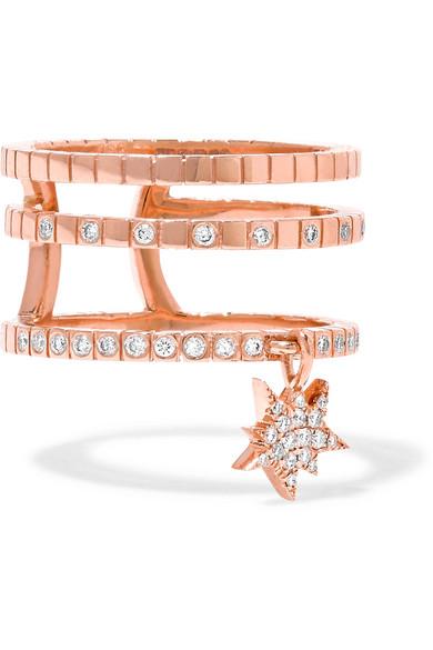Diane Kordas - Triple Cosmos 18-karat Rose Gold Diamond Ring
