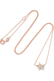 Explosion 18-karat rose gold diamond necklace