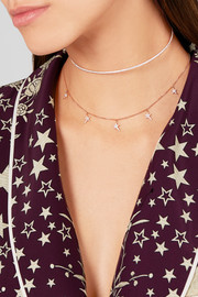 Diane Kordas Star 18-karat rose gold diamond necklace