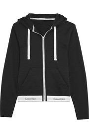 Modern cotton-jersey hooded sweatshirt