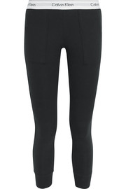 Modern cotton-jersey track pants
