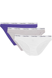 Calvin Klein Underwear Set of three Carousel stretch-cotton jersey briefs