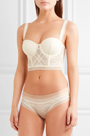 Endless stretch-lace and tulle underwired bra