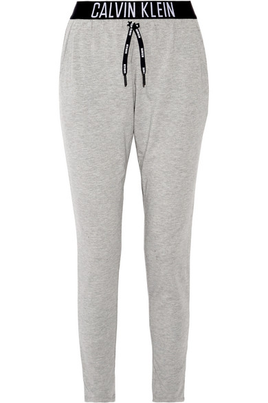 Calvin Klein Beachwear - Stretch-jersey Track Pants - Gray