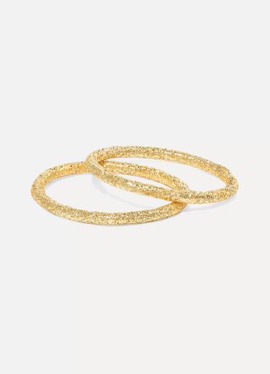 Carolina Bucci - Set Of Two 18-karat Gold Rings