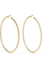 Large 18-karat gold hoop earrings
