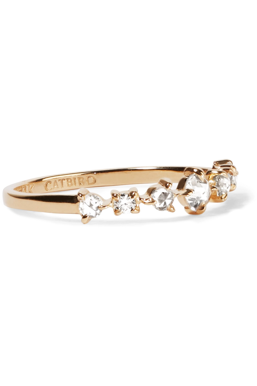 Catbird Snow Queen 14-karat gold diamond ring