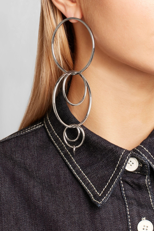 Jennifer Fisher XL Mixed Multi Hoop silver-plated earrings