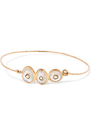 Louise 9-karat rose gold, moonstone and diamond bracelet