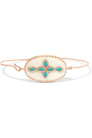 Garance 9-karat rose gold, turquoise and resin bracelet