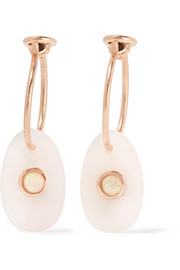 Orso 9-karat rose gold opal earrings