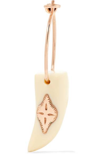 Pascale Monvoisin - Belleville 9-karat Rose Gold Resin Earring - one size
