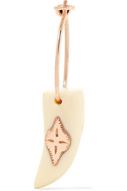 Belleville 9-karat rose gold resin earring