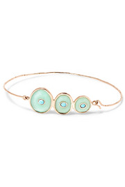 Louise 9-karat rose gold, chrysoprase and turquoise bracelet