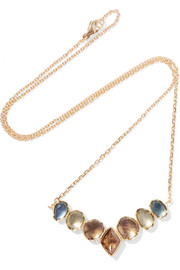 Brooke Gregson Orbit 18-karat gold, sapphire and diamond necklace