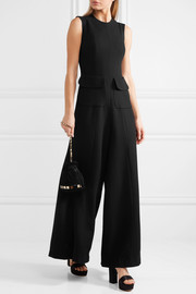 Wool-crepe jumpsuit