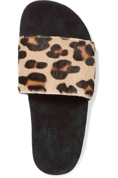 b6a0e56133a7 adidas Originals. Leopard-print calf hair and suede slides. £30. Zoom In