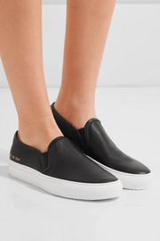 Tournament leather slip-on sneakers