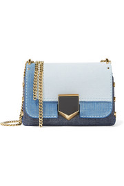 Lockett Petite textured-leather shoulder bag