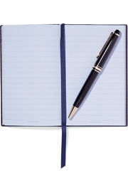 Smythson Panama Busy Bee textured-leather notebook