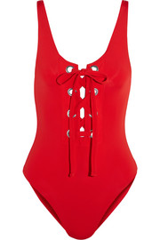 Mara Hoffman Lace-up swimsuit