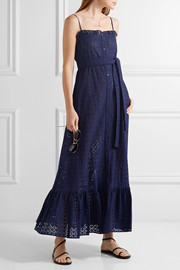 Lisa Marie Fernandez Ruffled broderie anglaise cotton maxi dress