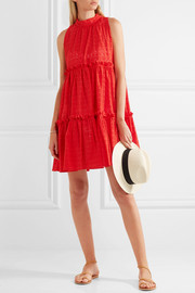 Lisa Marie Fernandez Ruffled broderie anglaise cotton mini dress