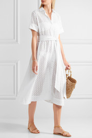 Lisa Marie Fernandez Broderie anglaise cotton shirt dress