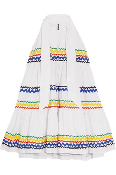 Lisa Marie Fernandez - Rickrack-trimmed Cotton-poplin Mini Dress - White