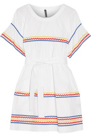 Fiesta rickrack-trimmed cotton-poplin mini dress