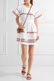 Lisa Marie Fernandez Fiesta rickrack-trimmed cotton-poplin mini dress