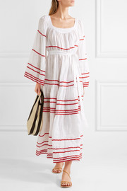 Lisa Marie Fernandez Ric rac-trimmed linen maxi dress