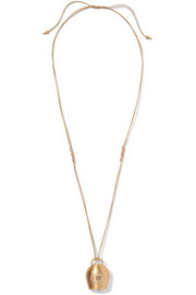 Belle gold-plated cubic zirconia necklace