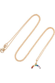 Rainbow gold-plated cubic zirconia necklace