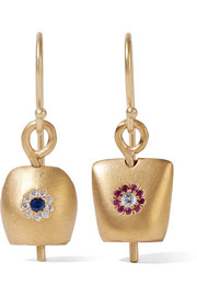 Belle medium gold-plated cubic zirconia earrings