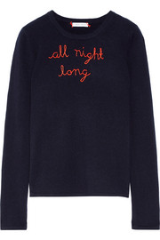 All Night Long embroidered cashmere sweater