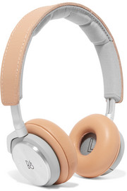 B&O Play H8 leather and silver-tone headphones